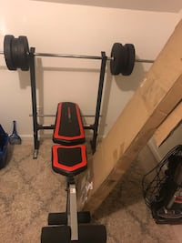 Red and black bench press Sykesville, 21784
