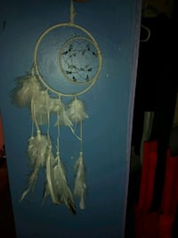 White Cresent Moon Dream Catcher