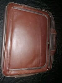 Samsonite Leather Laptop Bag Travel Luggage Carry On Brown Leather