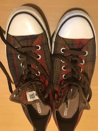 CONVERSE ALL STARS PLAID SNEAKERS MEN SIZE 10 Norfolk, 23502