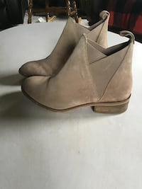 pair of  suede booties size 6.5