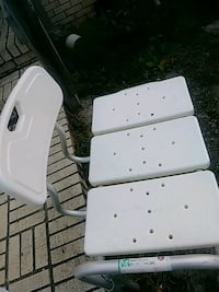 White shower chair gently used 148 mi