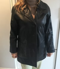LEATHER BLACK COAT WOMEN'S - DON MILLS - THE SHOPS  Toronto