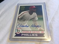 Phillies old school autographed Hayes card Rockville, 20814