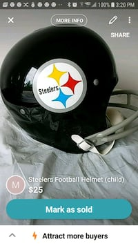 Replica Steeler Helmet (child size large) Pittsburgh, 15222