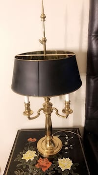 gold base table lamp with black lampshade Winston-Salem, 27106