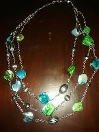 green and silver beaded necklace St. Louis, 63113