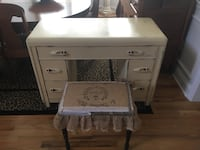 Shabby Chic Vintage Art Deco Waterfall Vanity and Bench Gainesville, 30506