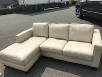 Brand New White Leather Like Section with Chaise End Maple Ridge, V2X