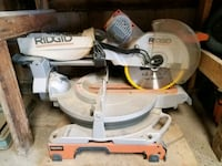 Great condition Ridgid comppnd miter saw and stand Santa Clara, 95050