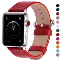 New Fullmosa 38/40/42/44mm Apple Series 1-4 Red Leather Watch Straps Toronto