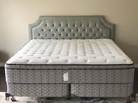 King size bed with head board and rails