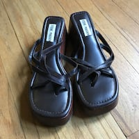 pair of black leather sandals Edgewater, 80214