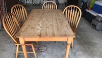brown wooden dining table set Odenton, 21113