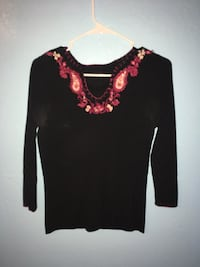 black and pink floral long sleeve shirt Phoenix, 85017