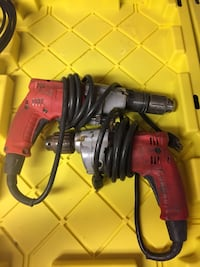 corded drill.  one is a hammer drill and a regular drill. $30.00 each