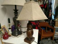 Hand Carved Owl Lamp Anchorage, 99503
