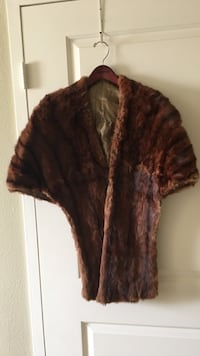 brown fleece short-sleeved cardigan Biloxi, 39530