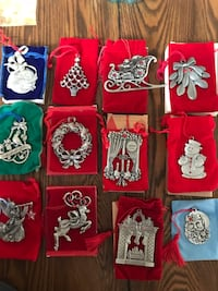 Avon collectible pewter ornaments Baltimore, 21220