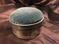Antique silver sewing tin with original content  Innisfil, L0L