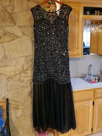 Black Sequined Gown, Medium, Brand New