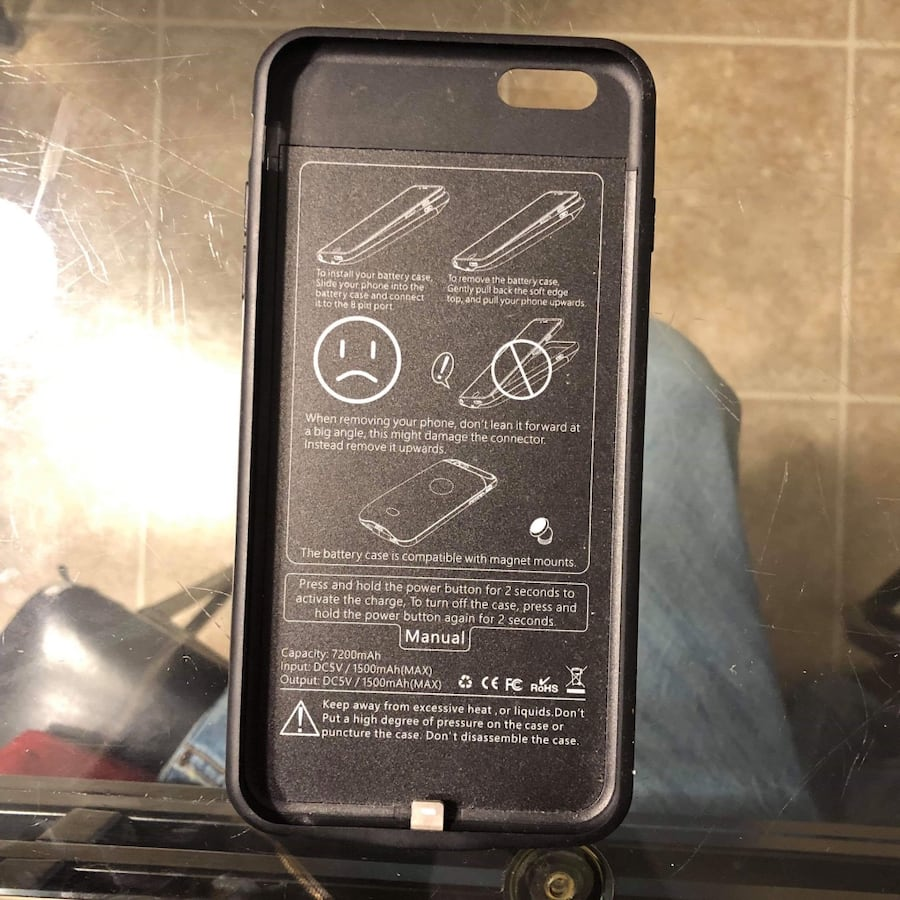 iPhone 6s Plus- 8 plus case battery charge