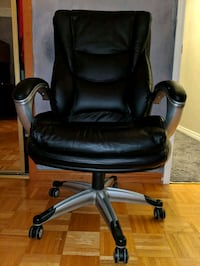 Black leather office chair. $150 OBO Brampton, L6X