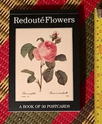 Brand new Redoute Flowers Postcard book