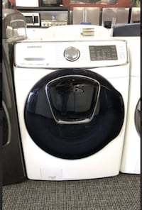 Samsung 5.0 cu. ft. High Efficiency Front Load Washer with Steam and AddWash Door in White, ENERGY STAR 760 mi
