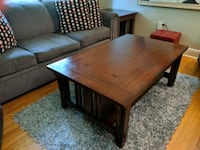Wooden coffee table and side table, brown Richmond Hill, L4C 3Y4