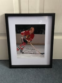 Chicago Blackhawks Bobby Hull signed and framed photo