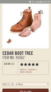 Red wing heritage  shoe tree