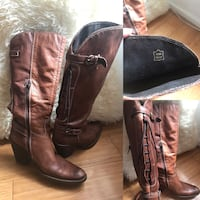 pair of brown leather knee high boots Gladesville, 2111