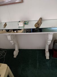"""Wood and mirrored antique table.  50""""long x 14""""wide.   Framingham, 01701"""