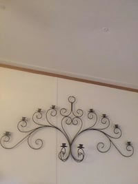 brown wrought wall decor