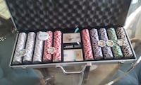 poker chips set with case