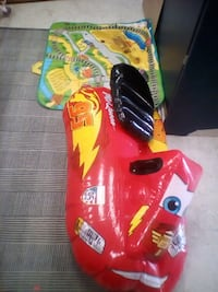 red and yellow plastic toy car Winnipeg, R3E 2C8