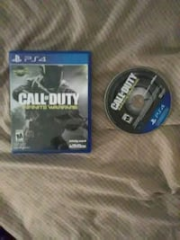 Call of Duty Infinite Warfare PS4 game disc with case Gaithersburg, 20879
