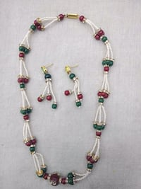 green and brown beaded necklace Jaipur, 302002