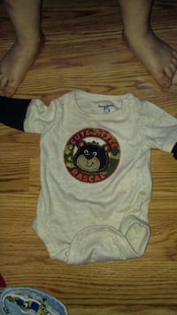 baby's white and blue onesie Kingsport