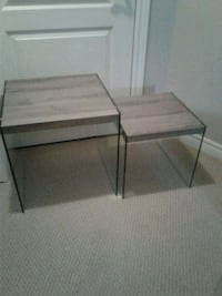 two brown wooden side tables Burlington, L7L 6N1