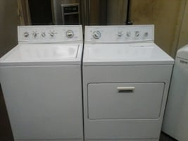 Kitchen Aid top load washer and electric dryer