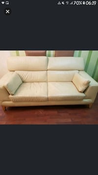 white leather 2-seat sofa Singapore, 310063