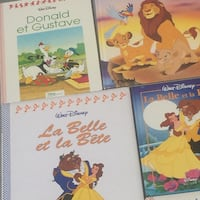 French Disney childrens books 90's editions