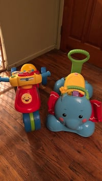 Vtech and fisher price ride on toys Centereach, 11720