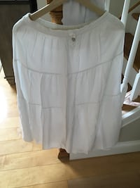 white maxi skirt for girl size 14-16, and jeans shorts Oshkosh size 12, everything as good as new Harpers Ferry, 25425