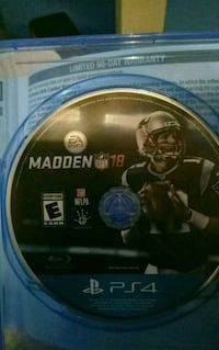 Sony PS4 Madden NFL 18 game disc