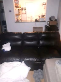 Leather couch three seater  Edmonton, T6A