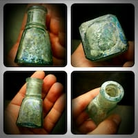 Age-old ottoman glass bottle