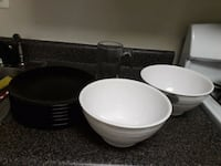 6 plates,2 large bowls and a jug Rockville, 20852